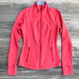 Lululemon Coral Pink Zip Workout Sweater